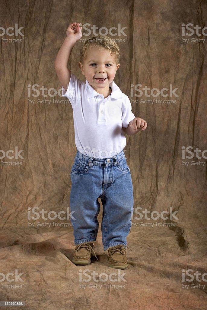 Baby Boy Waving royalty-free stock photo