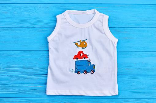 Baby boy white t-shirt print design.