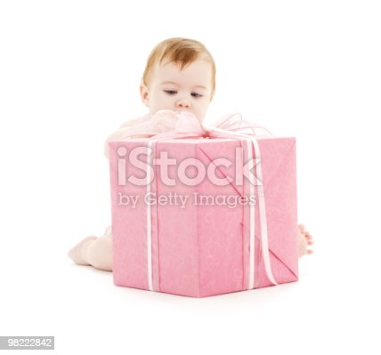 istock baby boy with big gift box 98222842