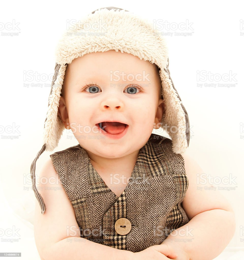 Baby Boy with eye contact royalty-free stock photo