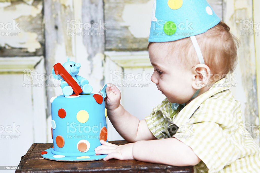 Baby Boy's First Birthday royalty-free stock photo