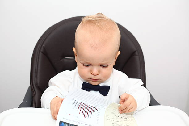 Baby businessman stock photo