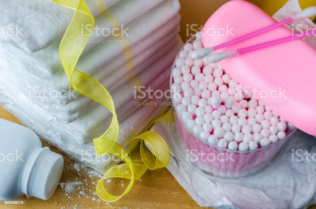 baby care accessories stock photo
