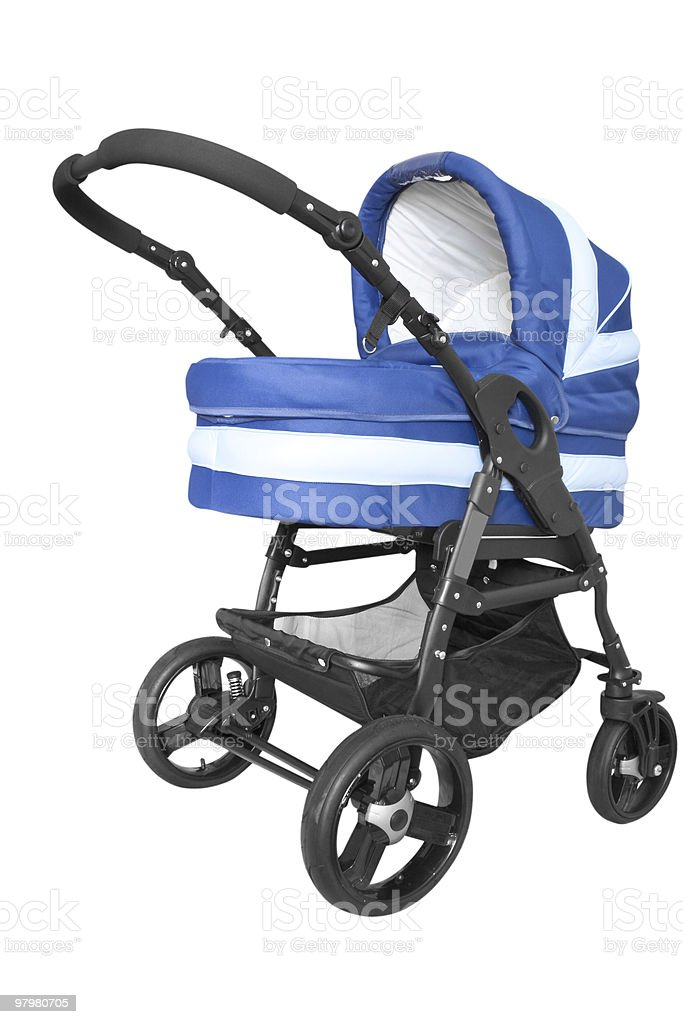 baby carriage isolated on white royalty-free stock photo