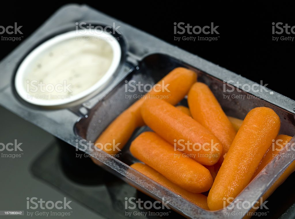 Baby carrots and ranch dressing dip royalty-free stock photo
