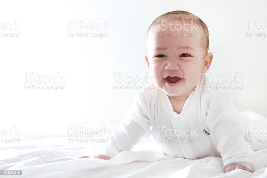 Baby Cheerful stock photo