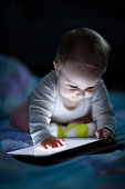 Baby child and tablet pc light night