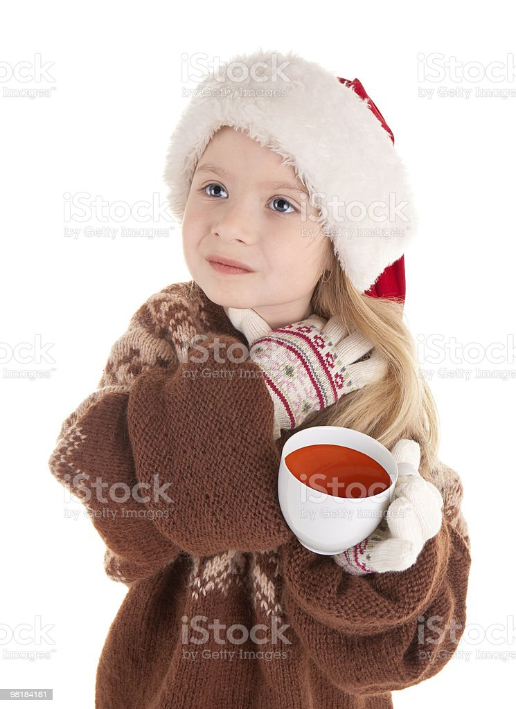 baby christmas girl royalty-free stock photo