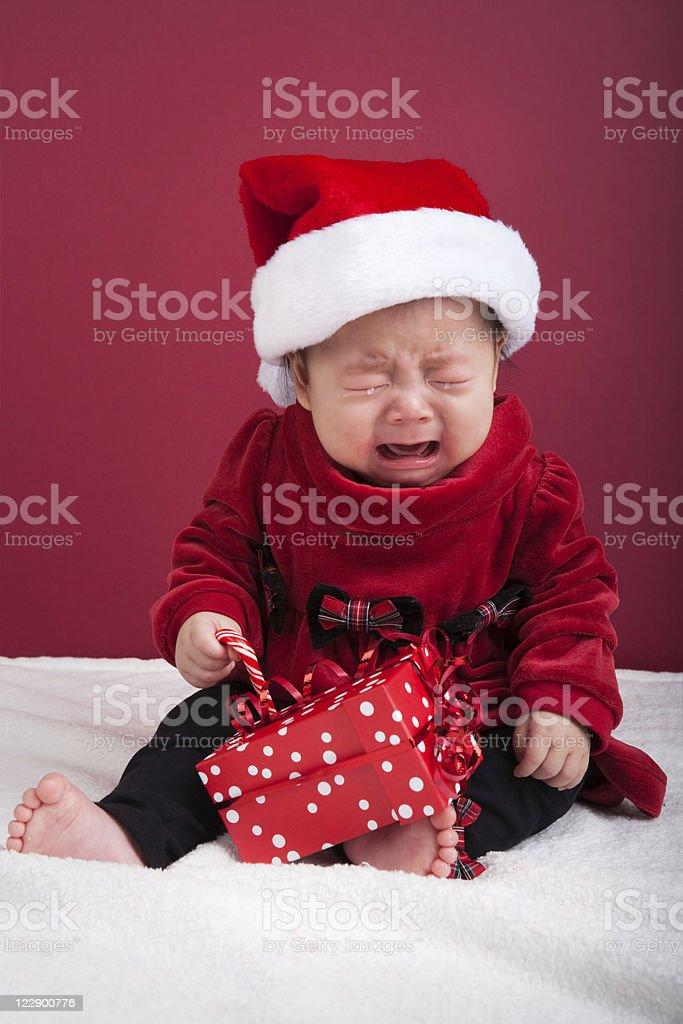 Baby Christmas Portrait royalty-free stock photo