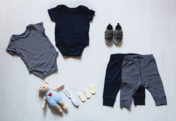 baby clothes, concept of child fashion. - leotard stock pictures, royalty-free photos & images