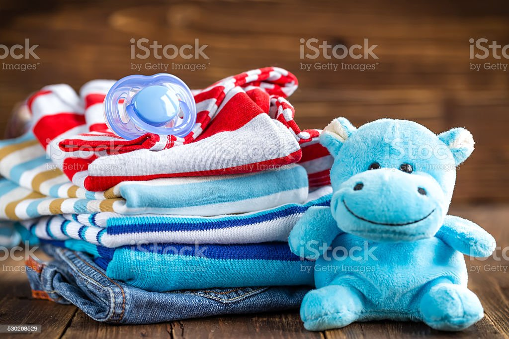 Baby clothes stock photo