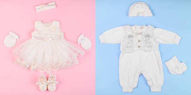 kleidung für babys - kleinkinder kleid häkeln stock-fotos und bilder
