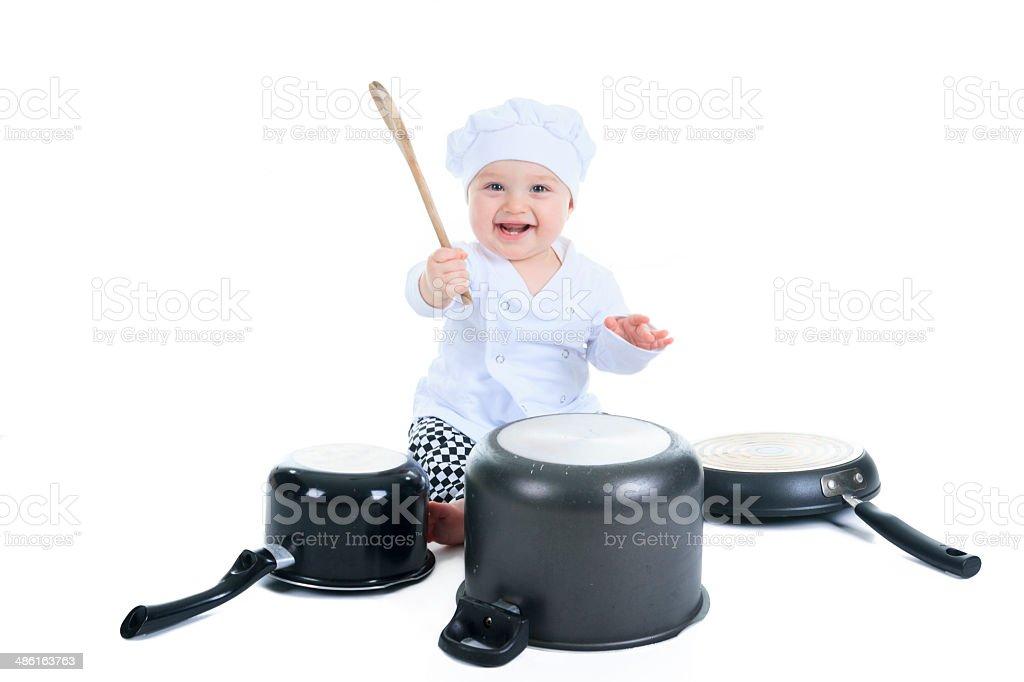 Baby Cook stock photo
