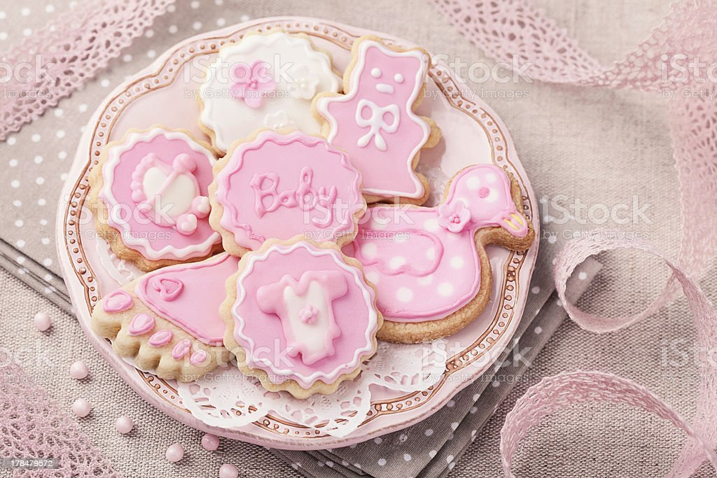 Baby cookies stock photo