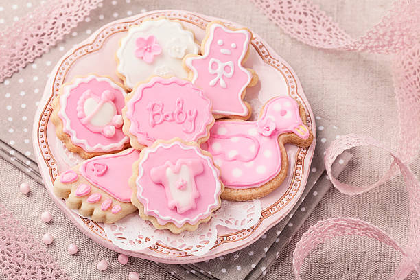Baby cookies stock photo