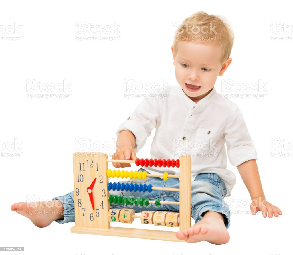 Baby Counting Abacus Children Mathematics Education Kid Playing With ...