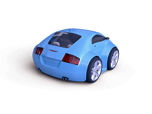 Baby Coupe Rear View stock photo