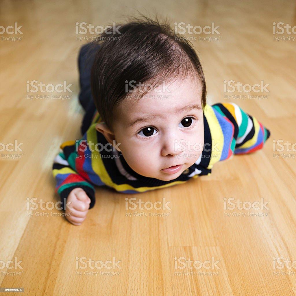Baby crawling royalty-free stock photo