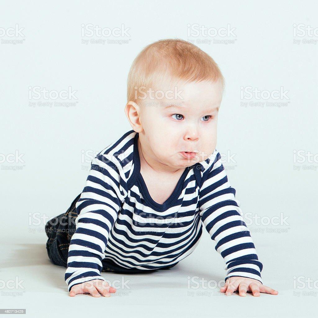 Baby crying royalty-free stock photo
