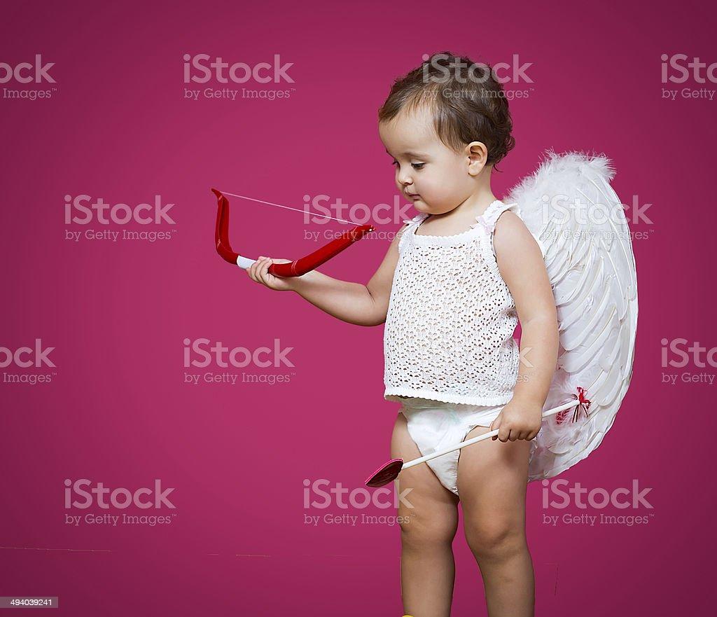 baby cupid stock photo