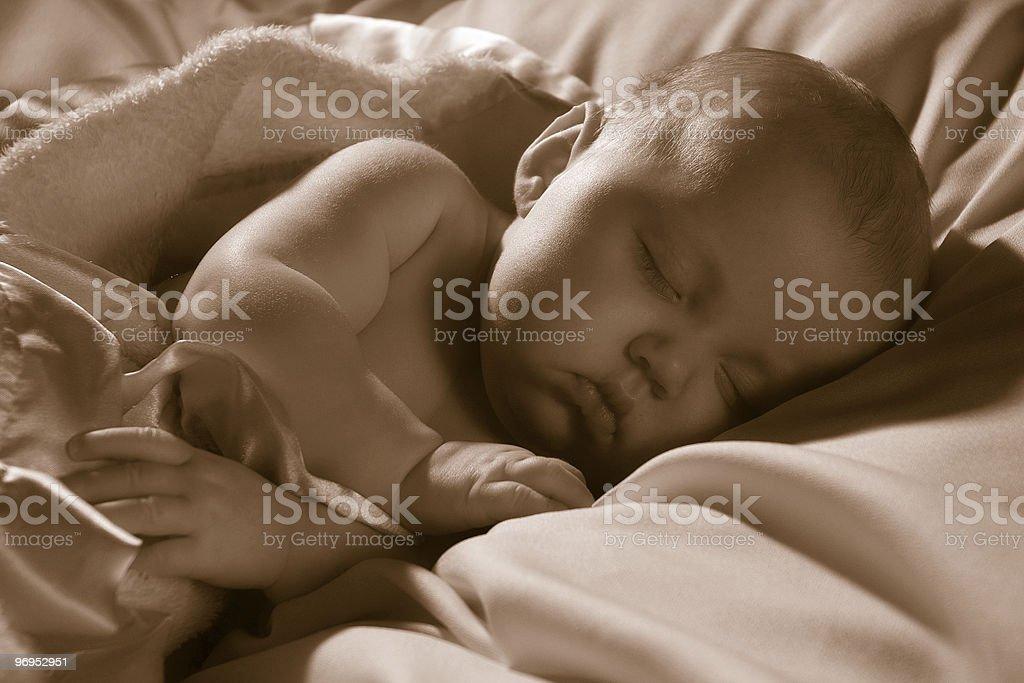 baby deep sleeping royalty-free stock photo