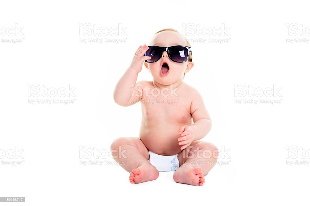 Baby Diaper - Sunglasses stock photo