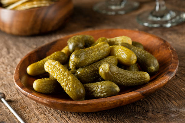 Baby Dill Pickles stock photo