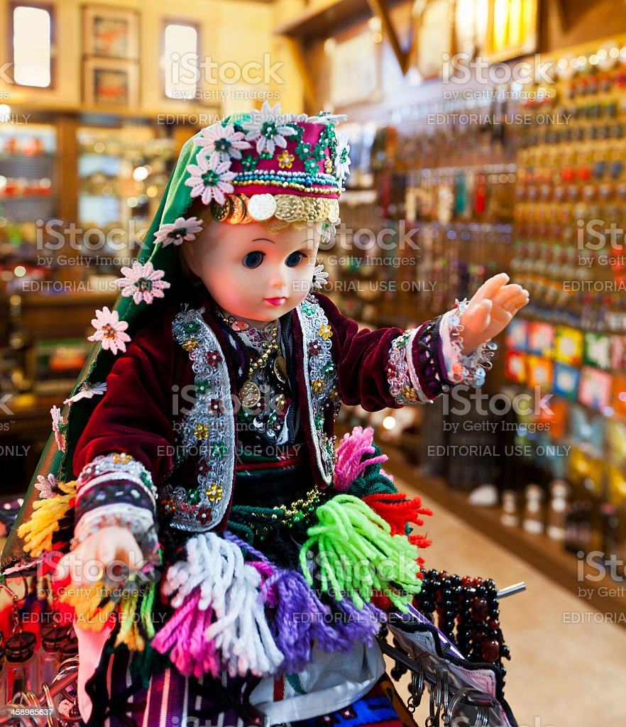 Baby doll with Traditional Turkish Clothes. royalty-free stock photo
