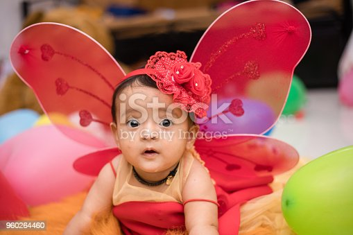 istock Baby dressed as an angel 960264460