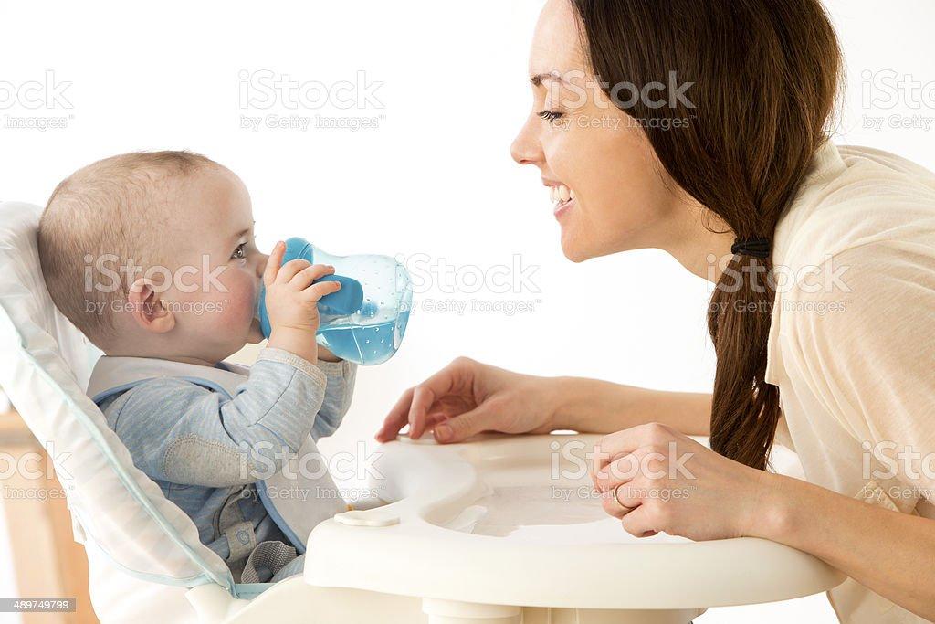 Baby Drinking stock photo