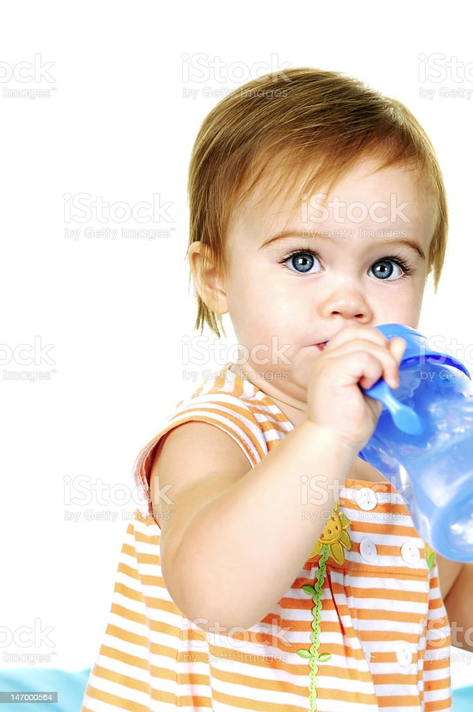 Baby Drinking Water royalty-free stock photo
