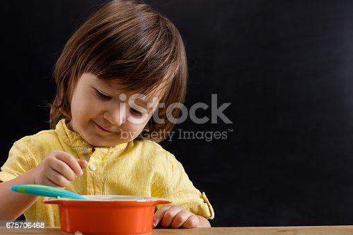 176993221istockphoto Baby eating feed. 675706468