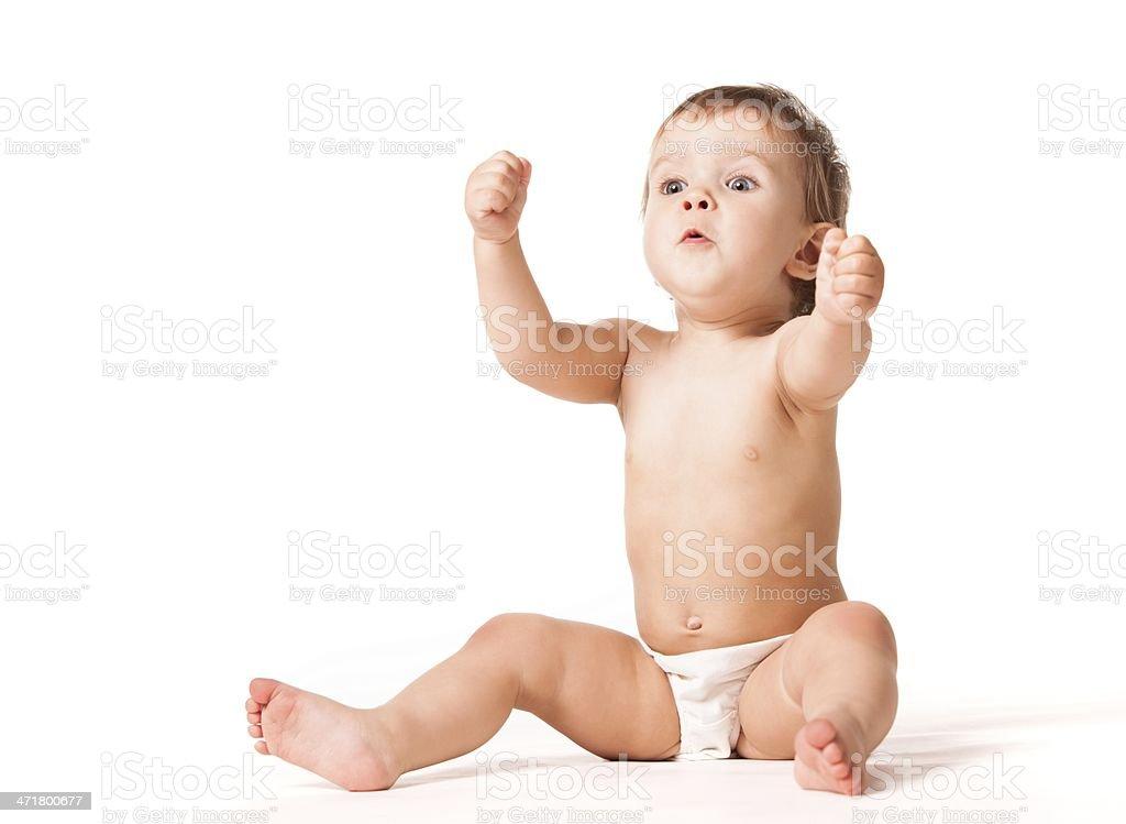 Baby emotional expression stock photo