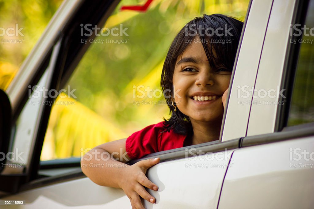 Baby enjoy car drive royalty-free stock photo