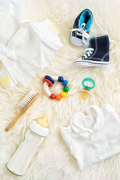 baby-ausstattung - windel partys stock-fotos und bilder