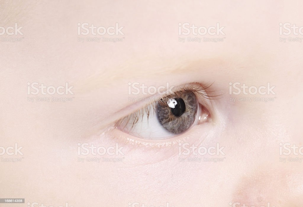 Baby Eye royalty-free stock photo