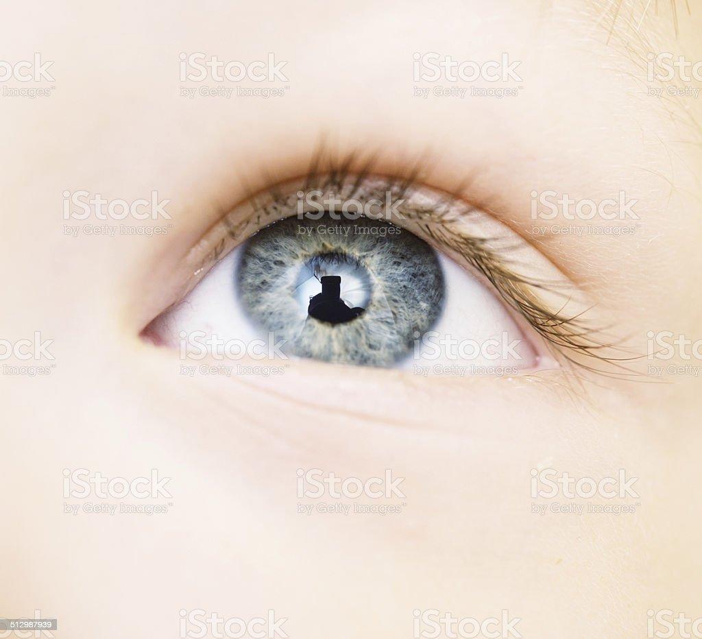 baby eye stock photo