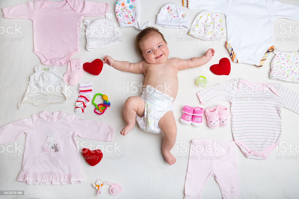 baby fashion concept stock photo