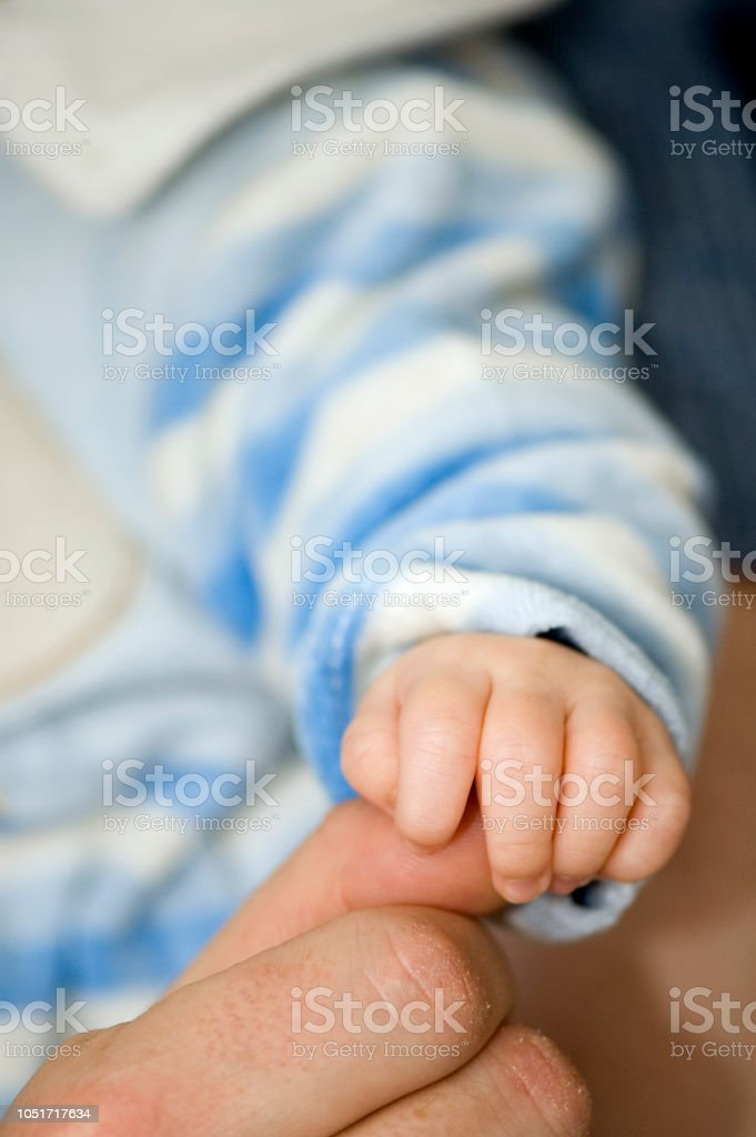 Baby Finger Close-Up stock photo