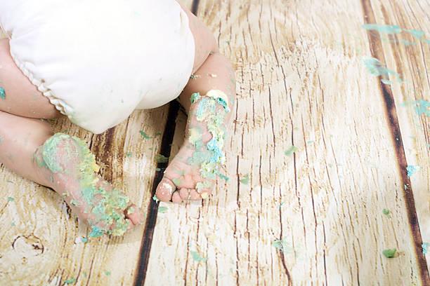 babys erster geburtstag - windel partys stock-fotos und bilder
