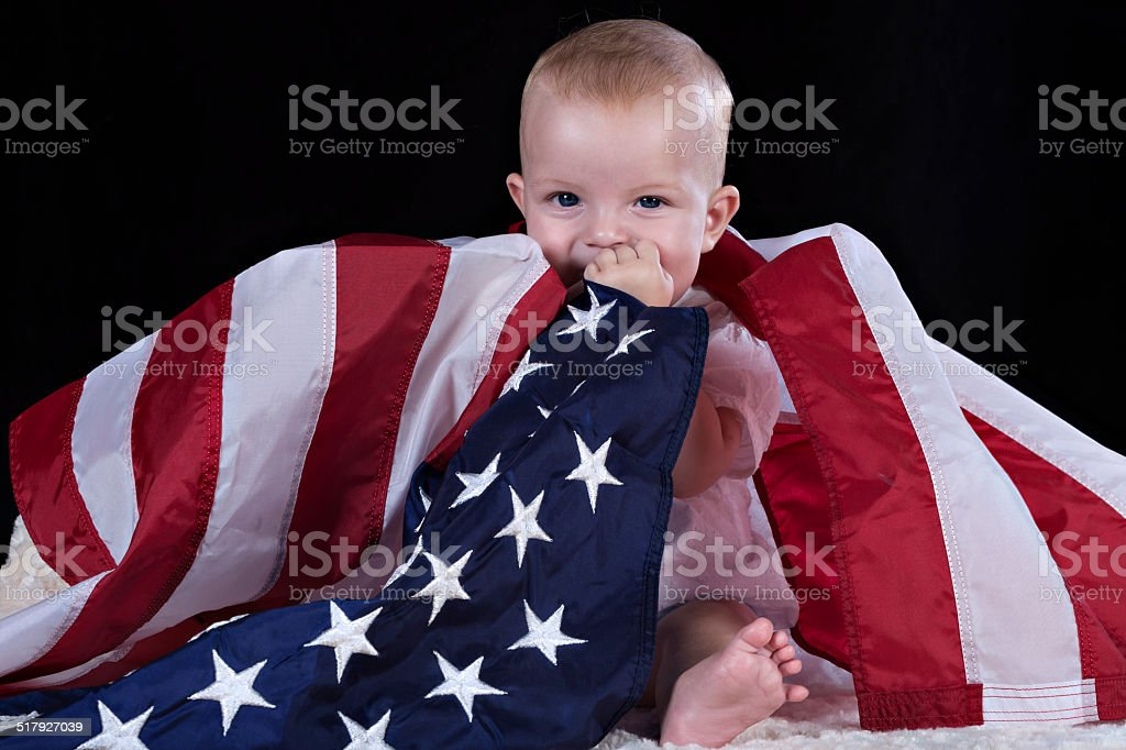 Baby flag stock photo