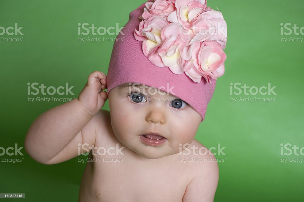 Baby Flower Hat royalty-free stock photo