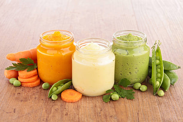 baby food - mash food state stock photos and pictures