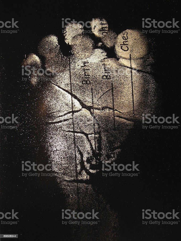 Empreinte-bébé pied droit photo libre de droits