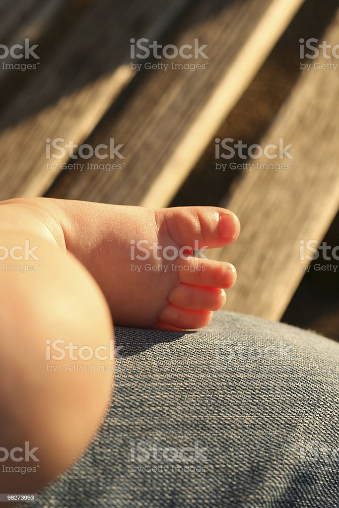 Baby Foot in Evening royalty-free stock photo