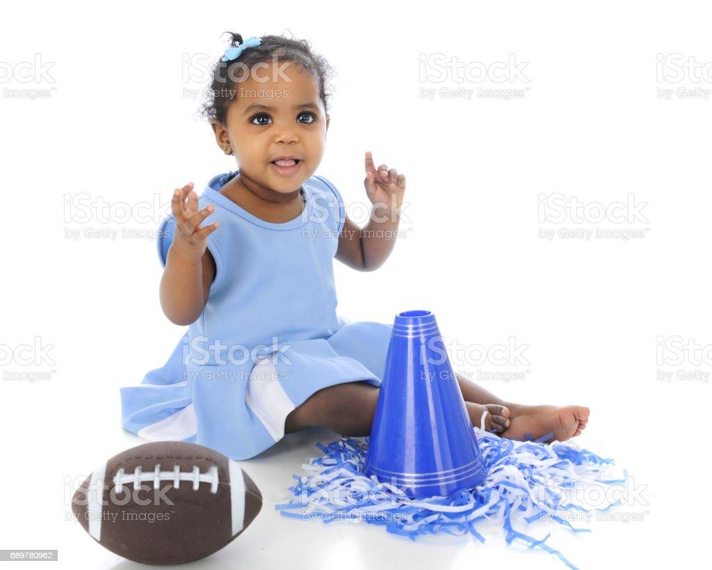 Baby Football Cheerleader stock photo