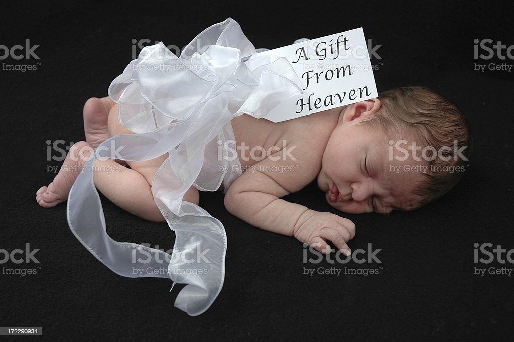 Baby Gift Sleeping stock photo