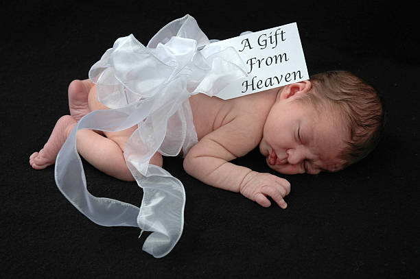 Baby Gift Sleeping stock photo
