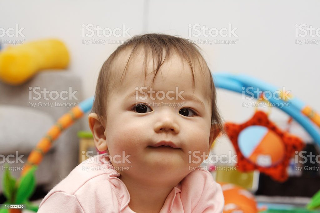 Baby girl, 10 months old royalty-free stock photo