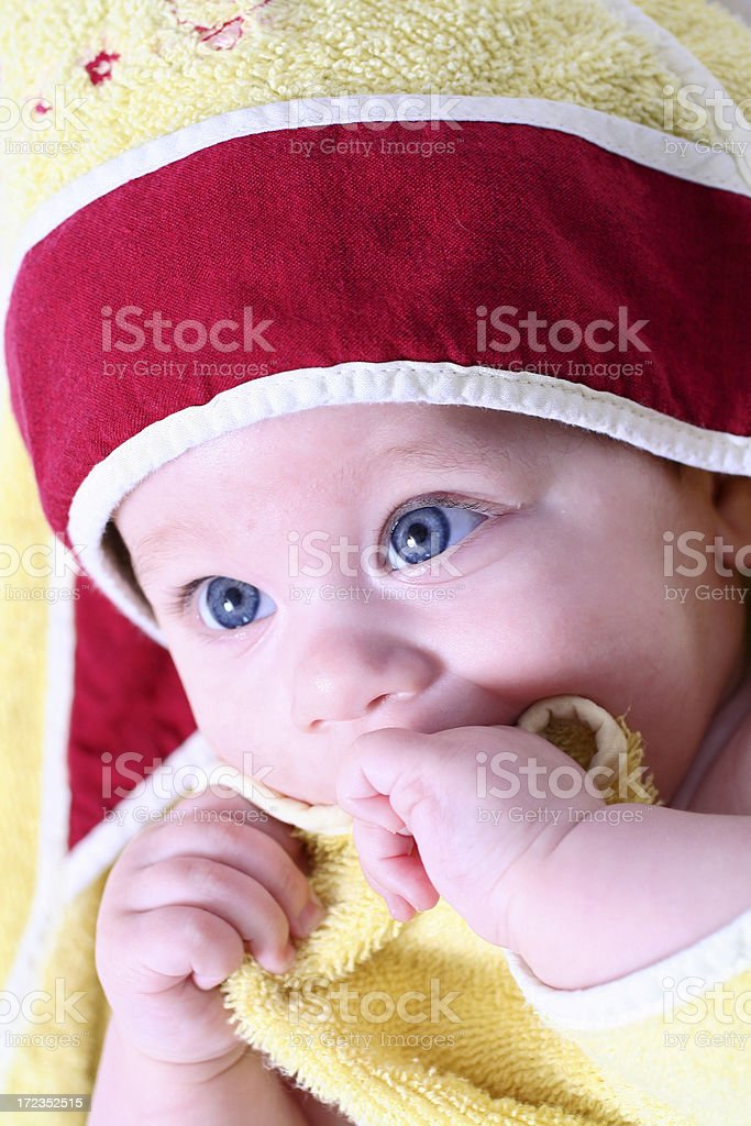 Baby girl after bath royalty-free stock photo